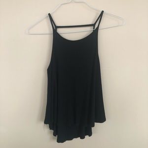 Black tank top with skinny straps size small